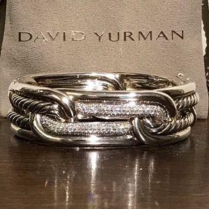 {David Yurman} Labyrinth Link Diamond Bracelet